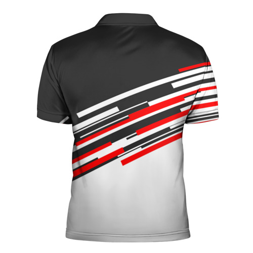 Мужская рубашка поло 3D  Фото 02, RUSSIA - Black and White