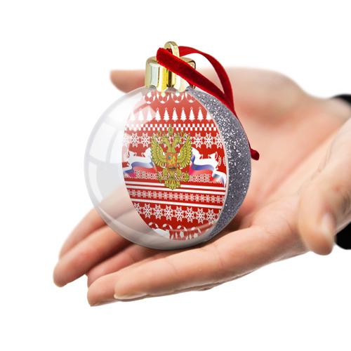 Ёлочный шар с блестками  Фото 03, RUSSIA Праздничный
