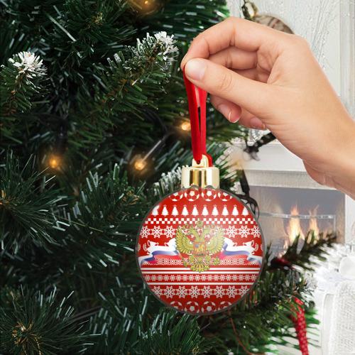 Ёлочный шар с блестками  Фото 04, RUSSIA Праздничный