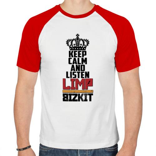 Мужская футболка реглан  Фото 01, Keep calm and listen LB