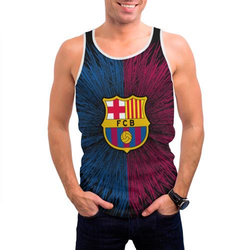 Мужская майка 3D  Фото 03, FC Barca 2018 Creative uniform