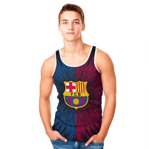 Мужская майка 3D  Фото 05, FC Barca 2018 Creative uniform