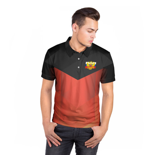 Мужская рубашка поло 3D  Фото 05, RUSSIA - Black Collection