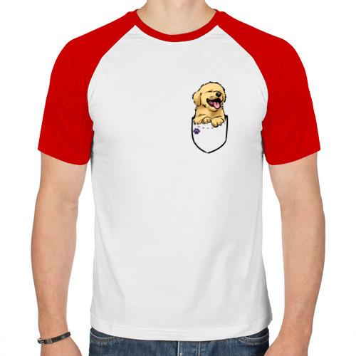 Мужская футболка реглан  Фото 01, Собачка в кармане