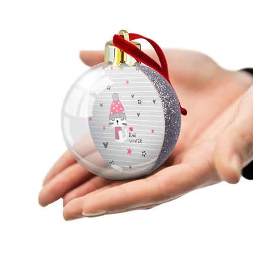 Ёлочный шар с блестками  Фото 03, My first winter