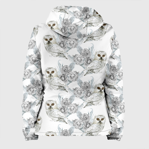 Женская куртка 3D  Фото 02, Owl with roses