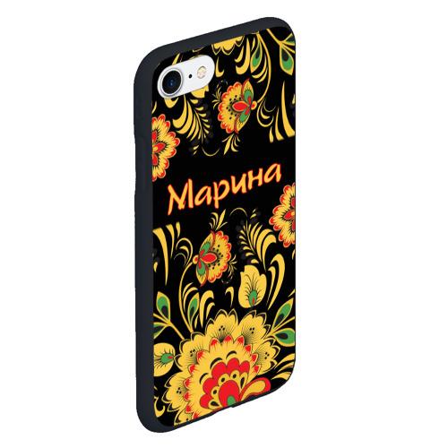 Чехол для iPhone 7/8 матовый Марина, роспись под хохлому Фото 01