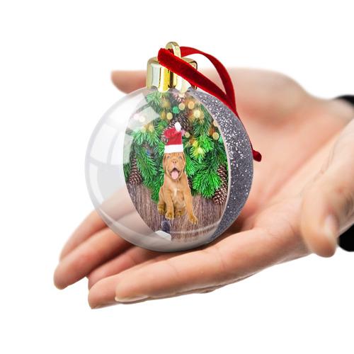 Ёлочный шар с блестками  Фото 03, DOG
