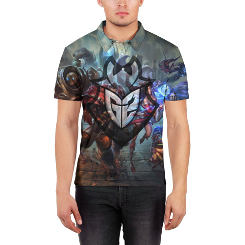 Мужская рубашка поло 3D  Фото 03, G2 LOL