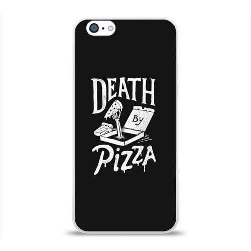 Чехол для Apple iPhone 6 силиконовый глянцевый  Фото 01, Death By Pizza