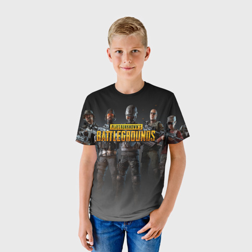 Детская футболка 3D PUBG Soldiers Фото 01