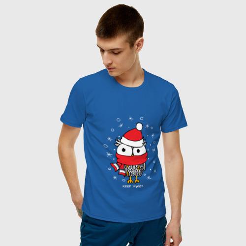 Мужская футболка хлопок Сова в шапке Фото 01