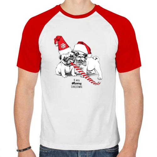 Мужская футболка реглан  Фото 01, Мопсы