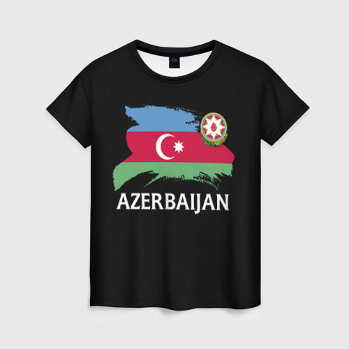 Женская футболка 3D Азербайджан Фото 01