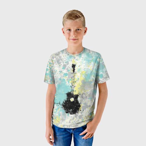 Детская футболка 3D гитарист