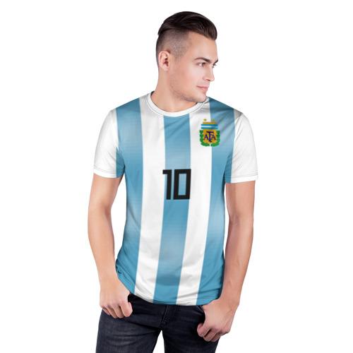 Мужская футболка 3D спортивная  Фото 03, Месси ЧМ 2018