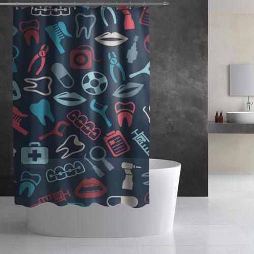 Штора 3D для ванной  Фото 02, Стоматолог