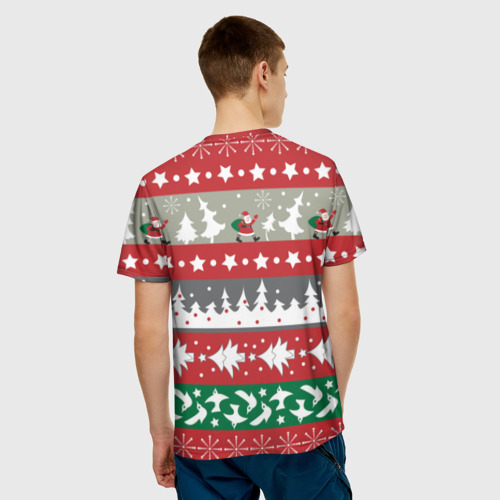Мужская футболка 3D 'Панда DAB дед Мороз'