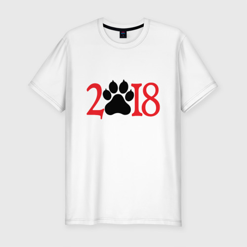 Мужская футболка премиум  Фото 01, 2018 Год Собаки