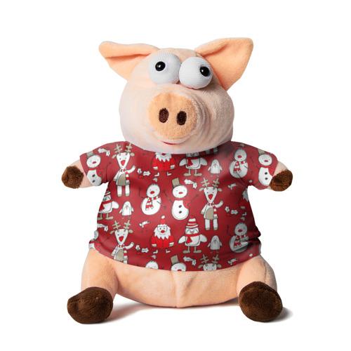 Свинка в футболке 3D Новый год