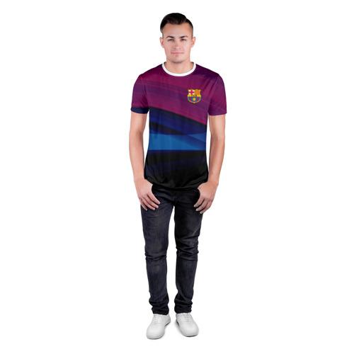 Мужская футболка 3D спортивная  Фото 04, FC Barca 2018 Original