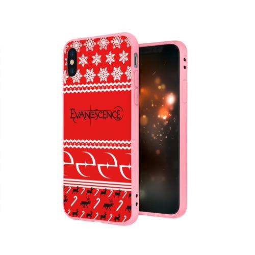 Чехол для Apple iPhone X силиконовый матовый  Фото 03, Праздничный Evanescence