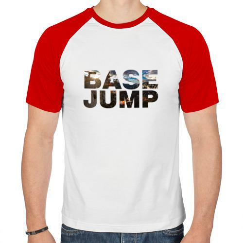 Мужская футболка реглан  Фото 01, base jumping
