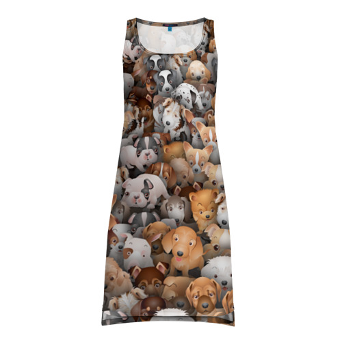 Платье-майка 3D Щенки