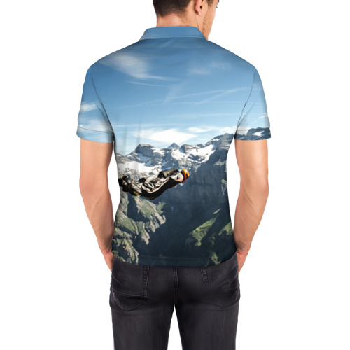 Мужская рубашка поло 3D  Фото 04, base jumping