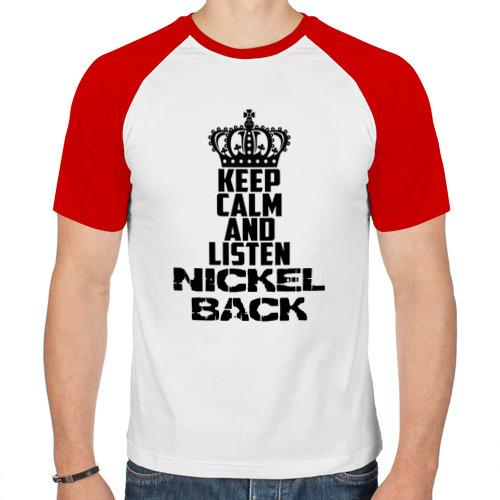 Мужская футболка реглан  Фото 01, Keep calm and listen Nickelbac