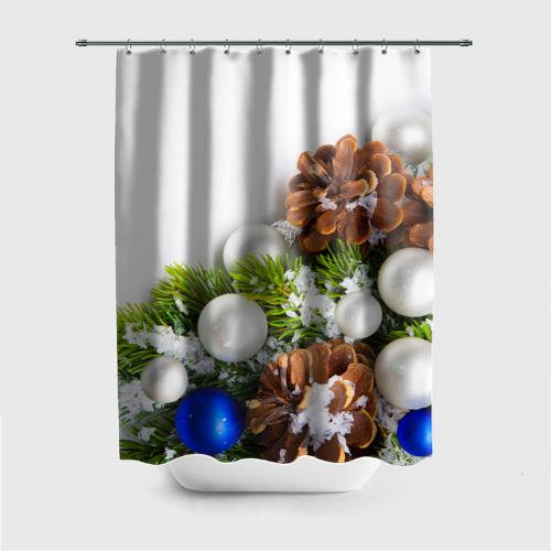 Штора 3D для ванной  Фото 01, Новый год