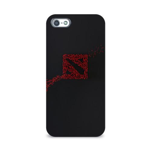 Чехол для Apple iPhone 5/5S 3D  Фото 01, Dota 2 (Logo art)