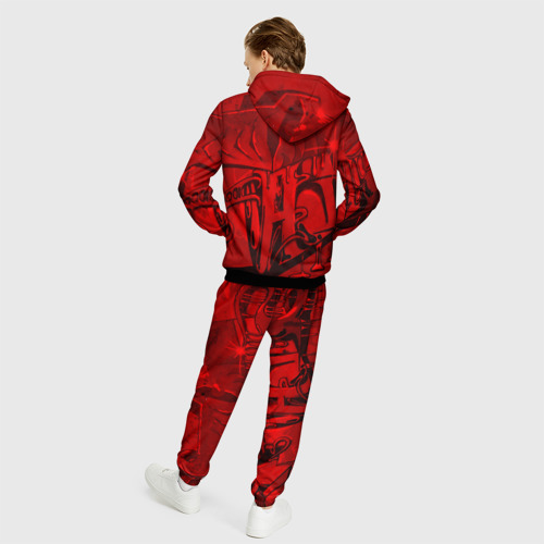 Мужской костюм 3D Уличное граффити Фото 01