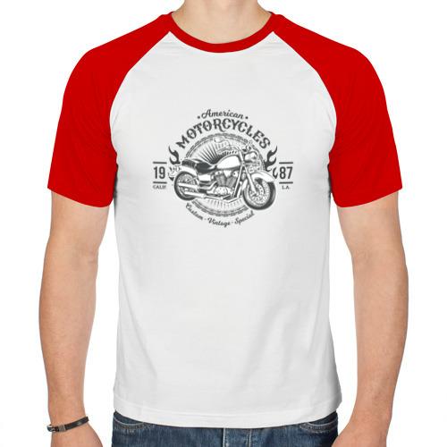 Мужская футболка реглан  Фото 01, Винтажный мотоцикл 2