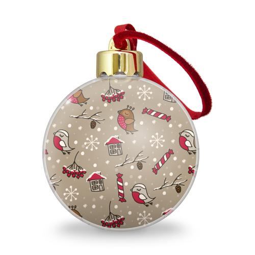 Ёлочный шар с блестками  Фото 01, Дуx рождества