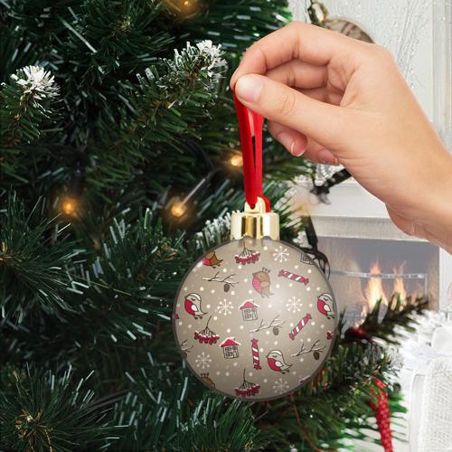 Ёлочный шар с блестками  Фото 04, Дуx рождества