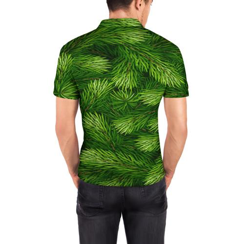 Мужская рубашка поло 3D  Фото 04, Ёлочка