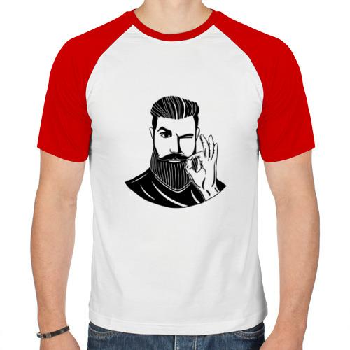 Мужская футболка реглан  Фото 01, Борода