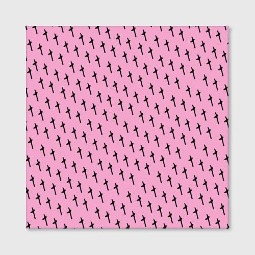 Холст квадратный  Фото 02, LiL PEEP Pattern