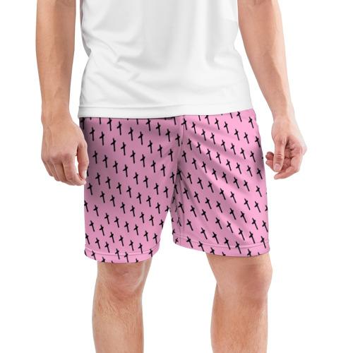 Мужские шорты 3D спортивные  Фото 03, LiL PEEP Pattern