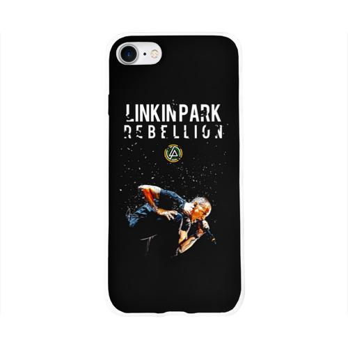 Чехол для Apple iPhone 8 силиконовый глянцевый Честер Linkin Park