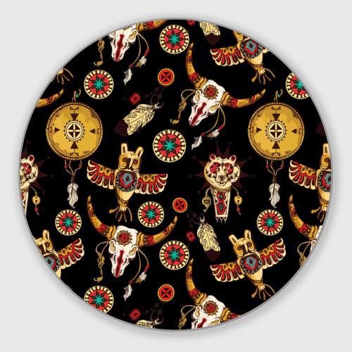 Коврик для мышки круглый Индейский орнамент Фото 01