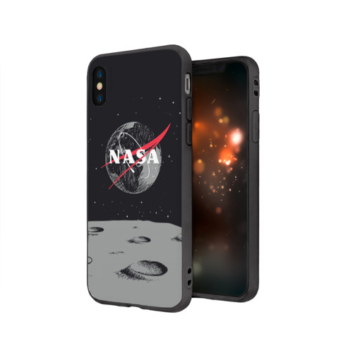 Чехол для iPhone X матовый NASA Фото 01