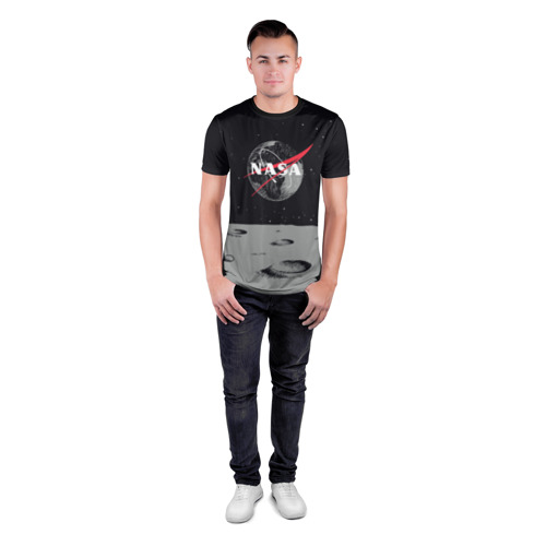 Мужская футболка 3D спортивная NASA Фото 01