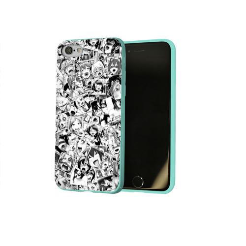 Чехол для Apple iPhone 8 силиконовый глянцевый Ahegao Фото 01