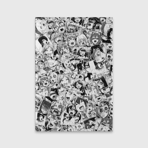 Обложка для паспорта матовая кожа Ahegao Фото 01
