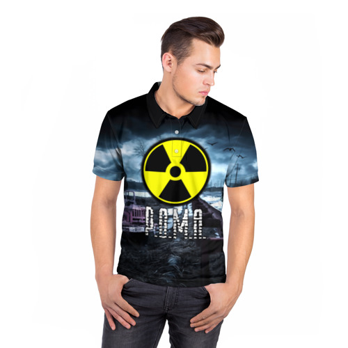 Мужская рубашка поло 3D  Фото 05, S.T.A.L.K.E.R. - Р.О.М.А.