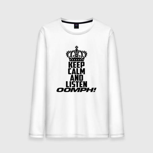 Мужской лонгслив хлопок  Фото 01, Keep calm and listen OOMPH!