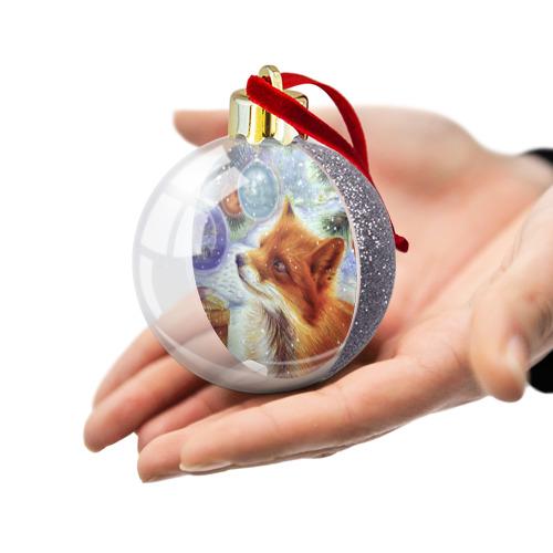 Ёлочный шар с блестками  Фото 03, Лиса и Рождество
