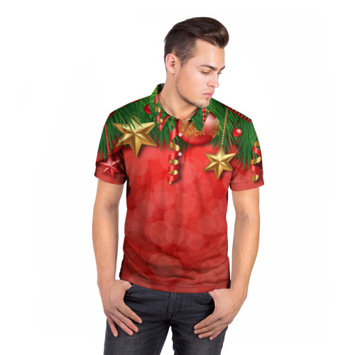 Мужская рубашка поло 3D  Фото 05, Новый год